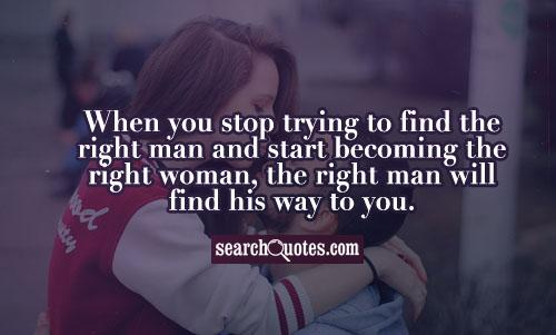 Finding the right woman for you