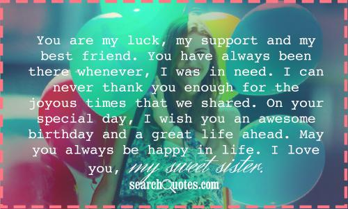 Best Gift For Elder Sister On Her Wedding : You are my luck, my support and my best friend. You have always been ...