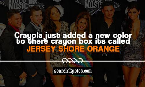 crayola just added a new color to there crayon box its called jersey shore orange