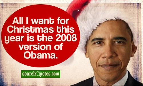 All I want for Christmas this year is the 2008 version of Obama.