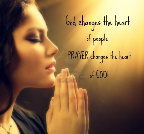 God is the one who changes the heart of people, but only prayer can change the HEART of God!