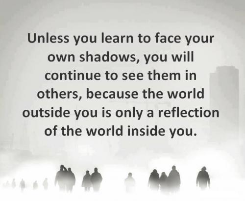 Unless You Learn To Face Your Own Shadows You Will Continue To See