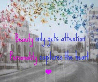 Beauty only gets attention, 