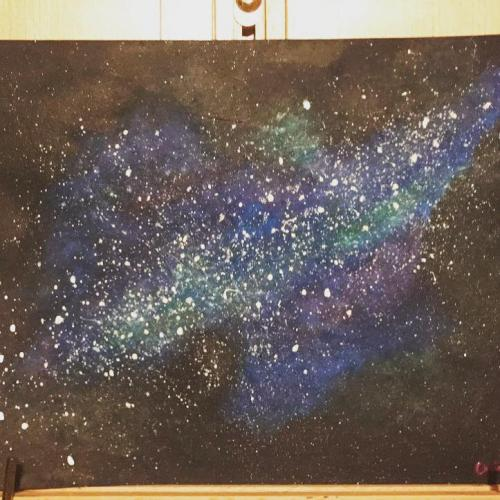 More paintings coming soon! Don't worry, they aren't all galaxy paintings lol.