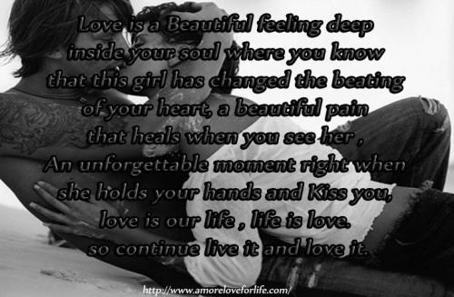 Sometimes you think you hate someone you love the most but no matter what you do behind your soul you cant stop loving them. You may push them away at times and yet you cant live without them either. Love is life, you just need keep living and keep loving reality can really change any one of us out there.