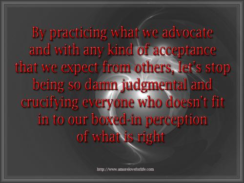 By practicing what we advocate 