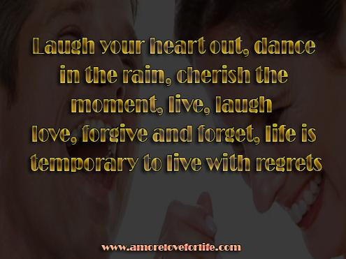 Laugh your heart out, dance 