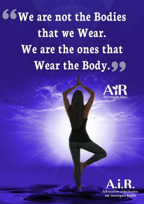 We are not the Bodies that we Wear.  We are the ones that Wear the Body.