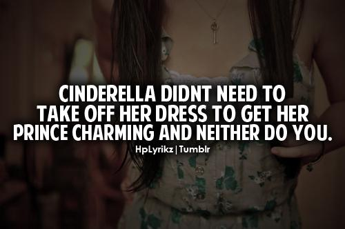 Cinderella Didn't Need To Take Off Her Dress  to get her prince charming and neither do you