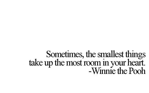 Sometimes, the smallest things take up the most room in your heart.