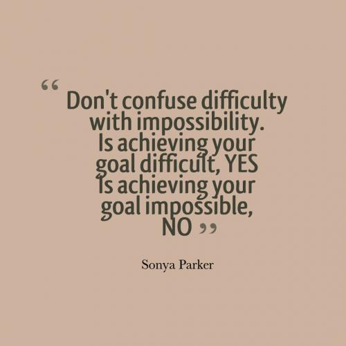 Don't confuse difficulty with impossibility. Is achieving your goal difficult, yes. Is achieving your goal impossible, no.