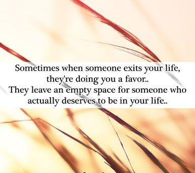 Know what you deserve. :)