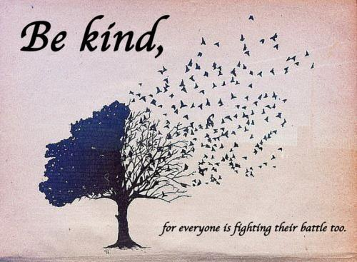 Be kind, for everyone is fighting their battle too.