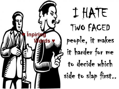 Ismail Khan (ISMAIL) Two Faced People Quotes