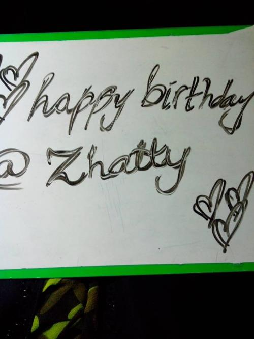 @happy birthday @zhatty u the best <3