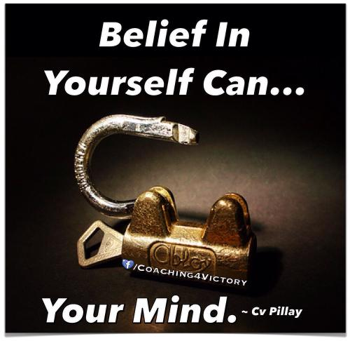 Belief in yourself can... Unlock your mind.