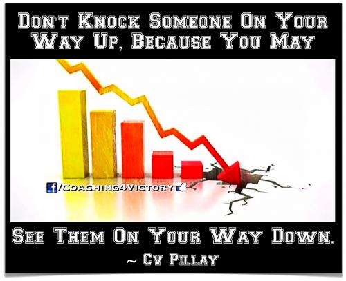 Don't Knock Someone On Your