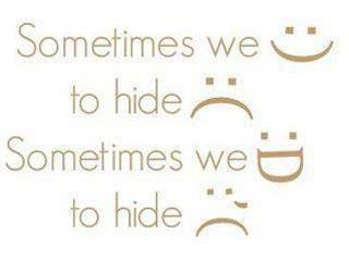 Sometimes we :) to hide :( Sometimes we :D to hide :'(