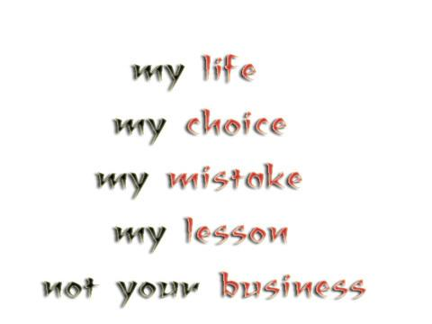 my life my lesson