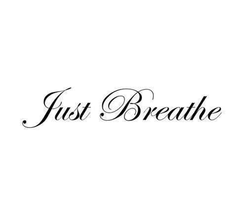 When time just seems to be running out... Just remember to stop what you're doing and just breathe.