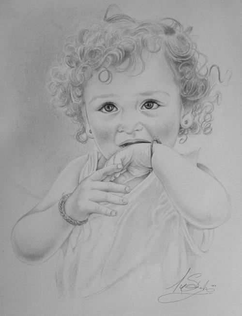 A new recent drawing of mates little girl Ivy, grown up so quick
