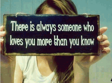 There is always someone who loves you more than you know. Never give up on true love.