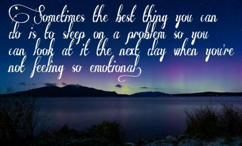 Sometimes the best thing you can