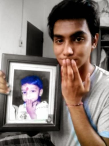 Me trying to reenact the expression of my younger self! I pretty much aced it :D