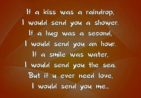 If a kiss was a raindrop,