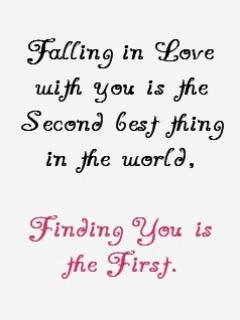Falling In Love With You IS The Second Best Thing In The ...