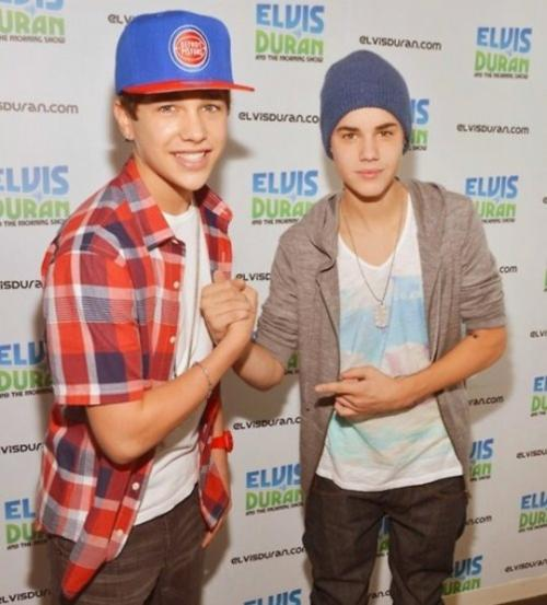 Me And Bieber Kicking It (: