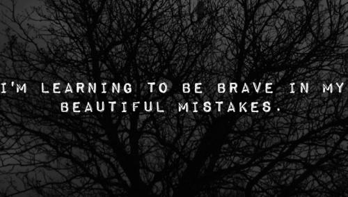 Whenever you make a mistake or get knocked down by life, dont look back at it too long. Mistakes are lifes way of teaching you.