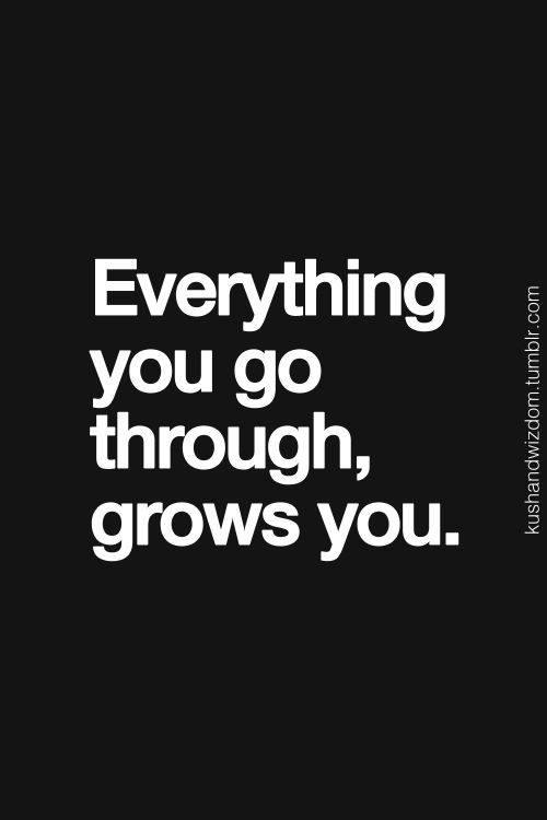 Everything You Go Through,Grows You